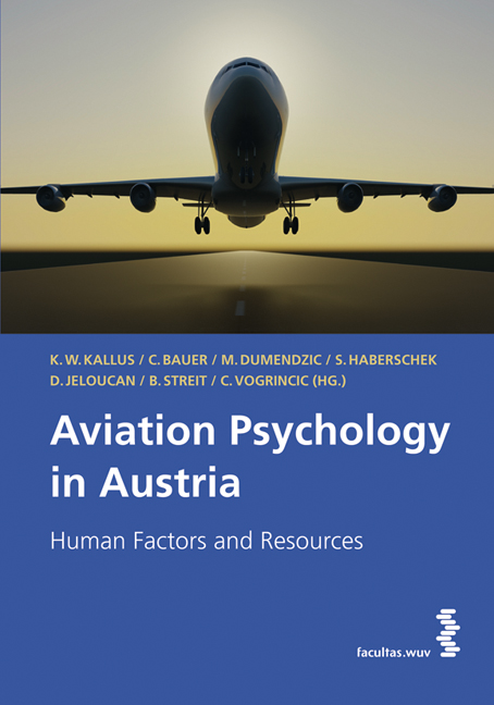 Cover Aviation Psychology in Austria