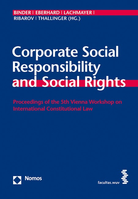 Cover Corporate Social Responsibility and Social Rights