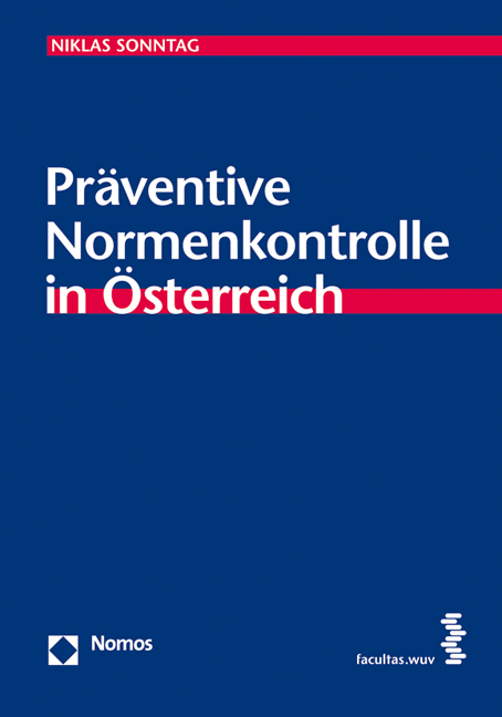 Cover Präventive Normenkontrolle in Österreich
