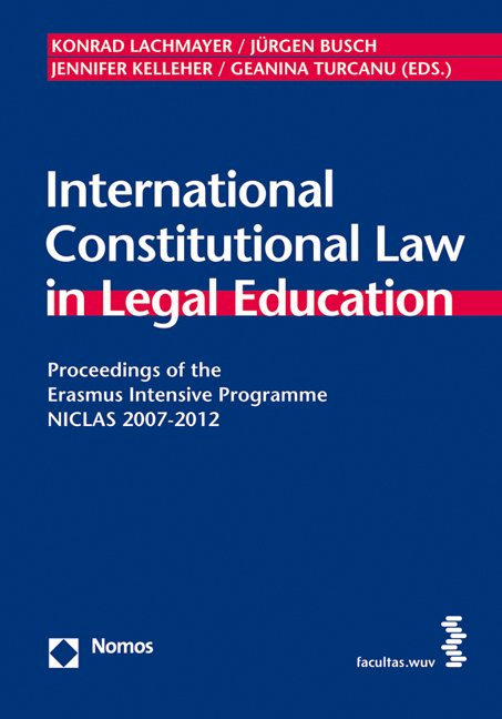 Cover International Constitutional Law in Legal Education
