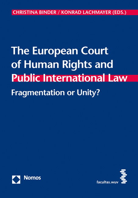 Cover The European Court of Human Rights and Public International Law