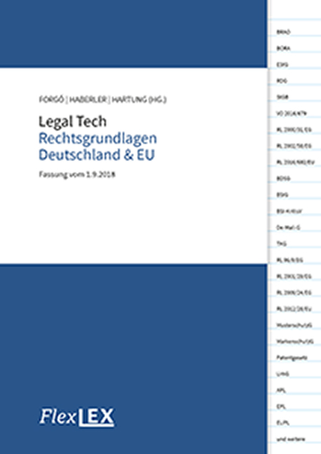 Cover Legal Tech Rechtsgrundlagen Deutschland & EU